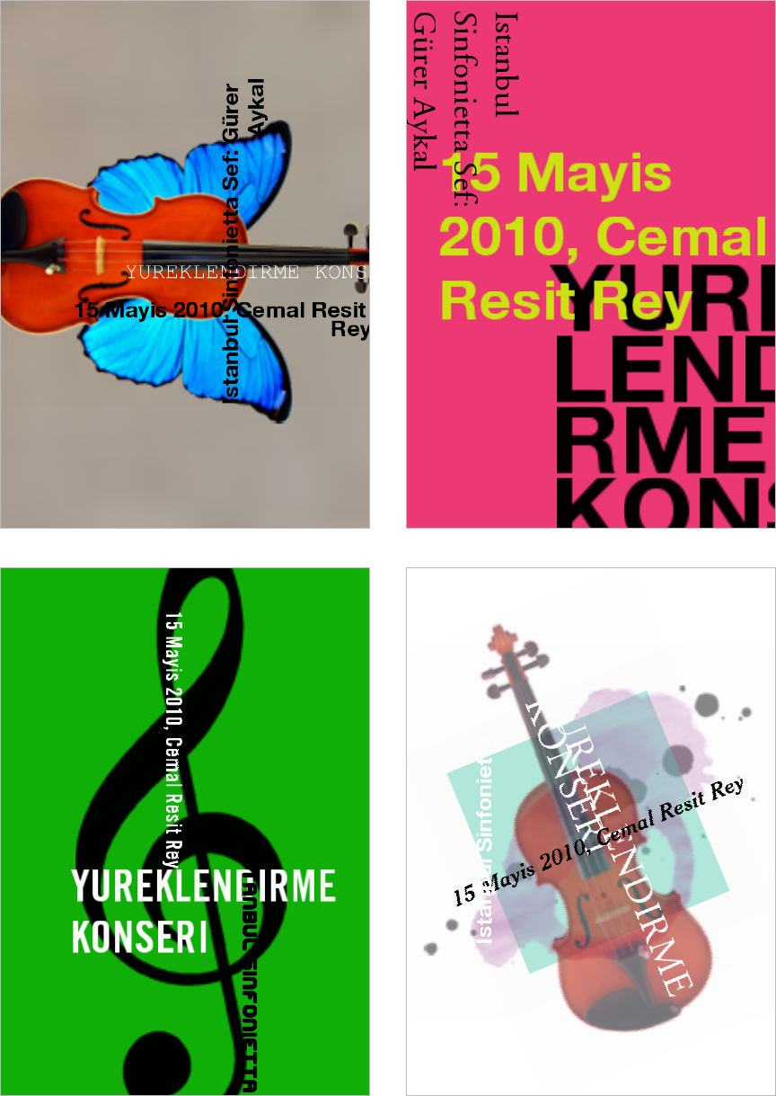 Figure 21. Results from Gráphagos for the poster of Yüreklendirme Konseri ('Heartening Concert').